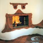 Modellierter Kamin